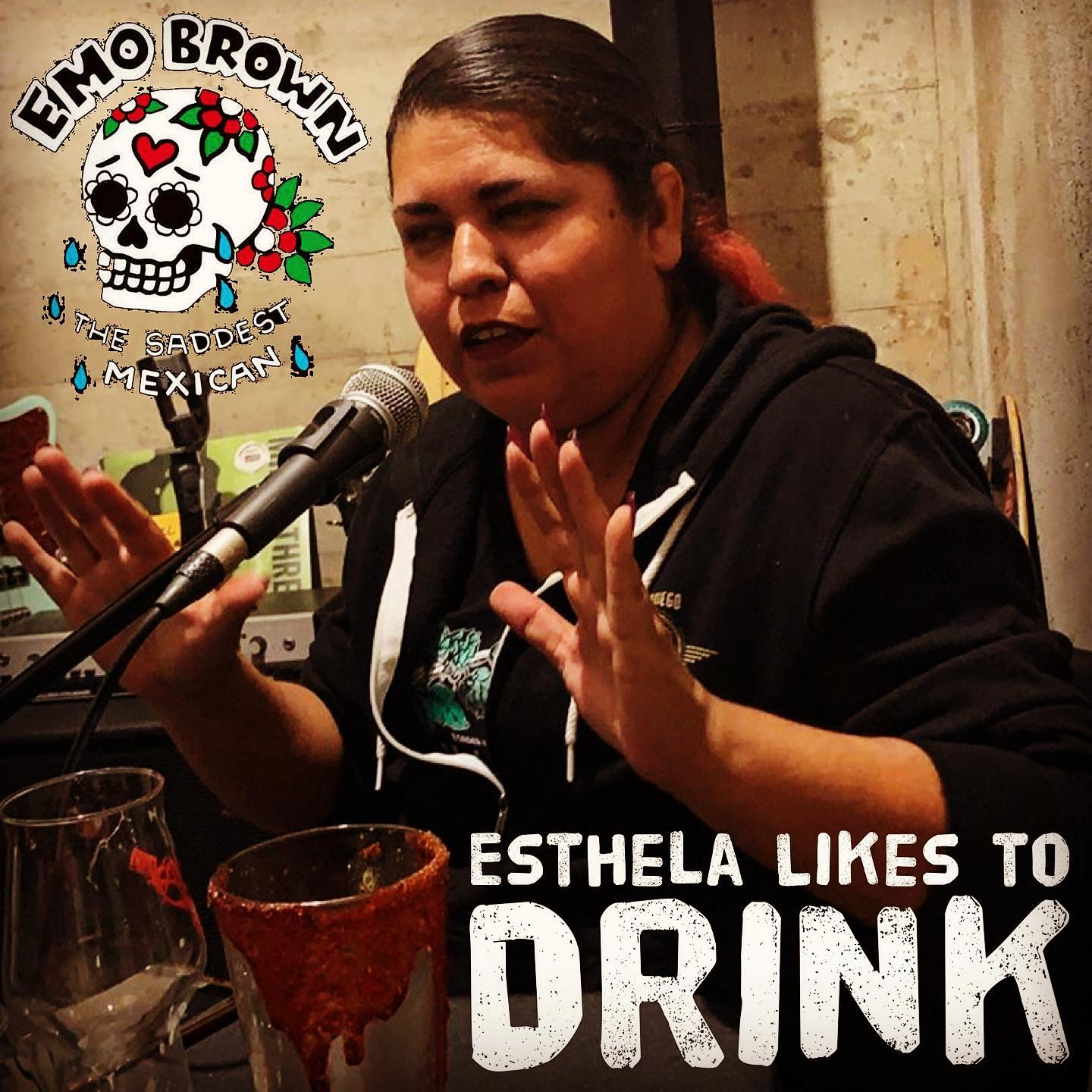 Esthela Likes to Drink