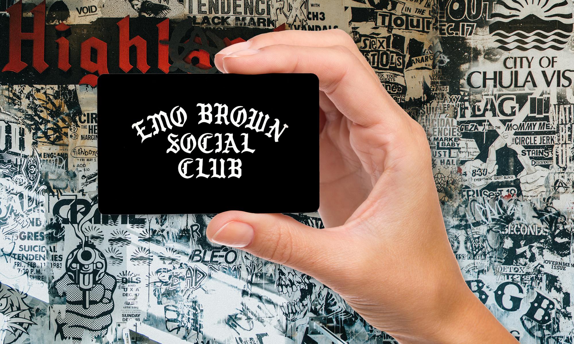 Emo Brown Social Club Card